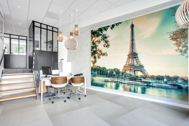 Pose de papier peint panoramique